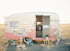 pink tiny camper
